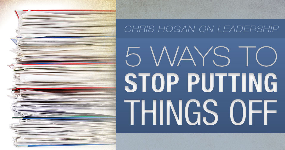 5 Ways To Stop Putting Things Off